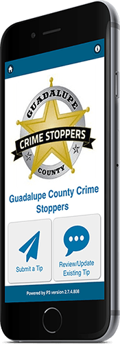 guadalupe county crime stopper web app on mobile phone