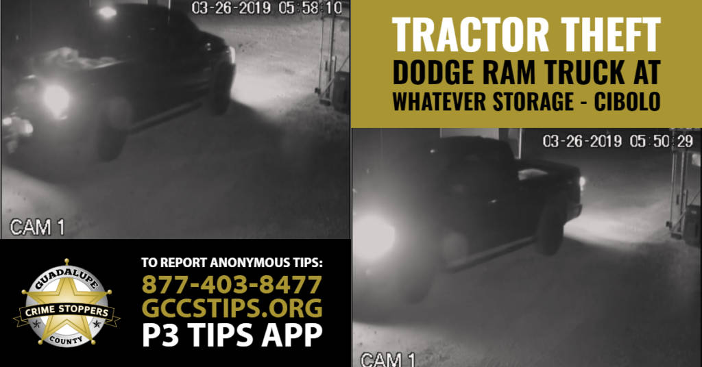 Tractor Theft from WhatEver Storage in Cibolo