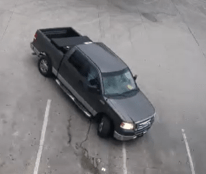 black truck driven by thief